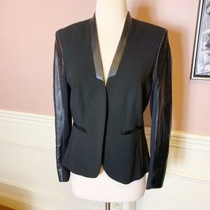 H&M Black Two Toned Fabric Blazer